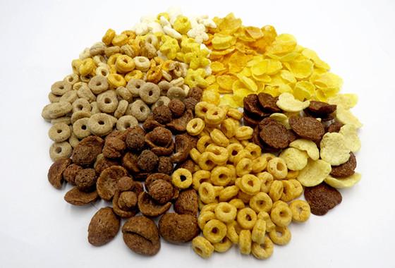 Producción de copos de maíz y cereales para el desayuno